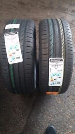 Tyres tires tyers. 2 x continental sport runflat brand new 225.45.18