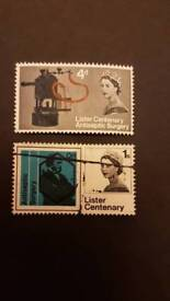 Stamps centenery of joseph lister