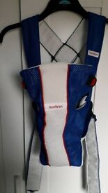 Baby Bjorn Carrier Air blue & white - Hardly used