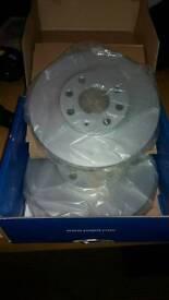 Pagid front Brake discs vauxhall astra SRi 2002 1.8l