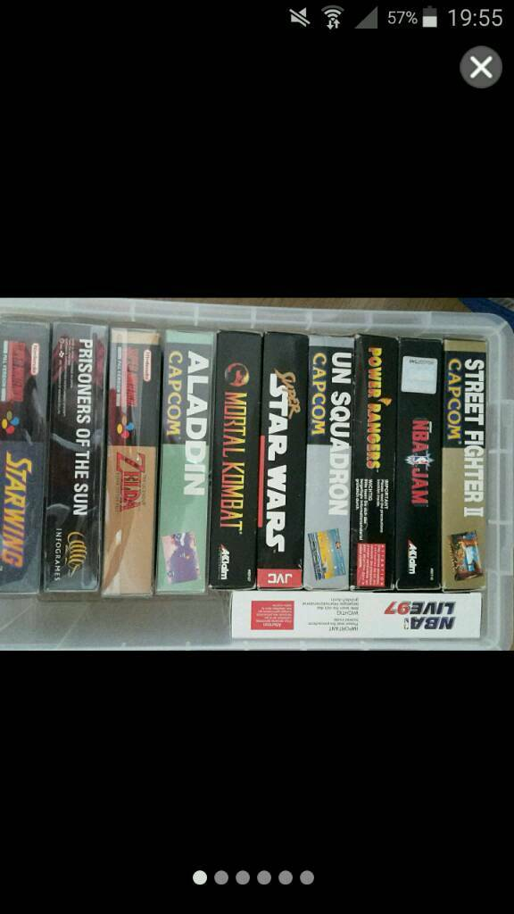 Super nintendo games all boxed complete