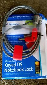Keyed DS notebook lock