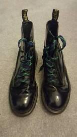 Dr Martens Black Patent Boots size 6