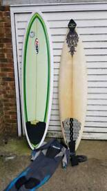 Surfboard and Accesories