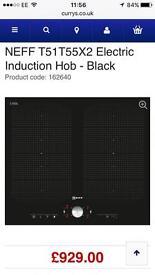 NEFF T51T55X2 Electric Induction Hob