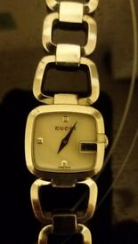 Ladies gucci silver watch