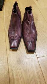 Purple leather boots size 9