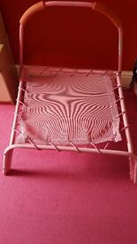 Girls pink trampoline