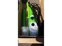 H2O steam cleaner and attachments boxed