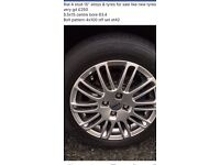 "Rial 4 stud 15"" alloys and tyres"