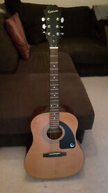 Epiphone acoustic guitar, full size, great working condition