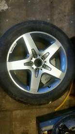 Mercedes gla alloy wheel and tyre