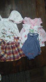 Baby girls 0-3months summer clothes bundle