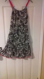 M&S Zebra print girls dress