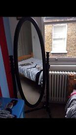 Wooden full-size mirror