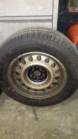 Vauxhall vivaro wheel with brand new michelin 205/65r15