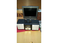 CD Microsystem and small flat screen tv with freeview attachment