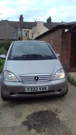 Mercedes Benz A Class Petrol 2001 for spairs