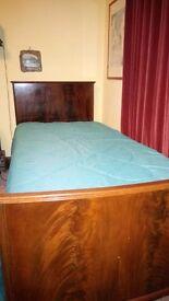 1 single mahogany bed