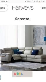 BRAND NEW harveys serento sofa with leather care kit and 5 years protection