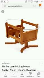 Moses basket and mother care rocking stand