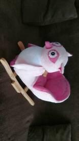 Baby Rocker 'Rock my baby' Pink Owl