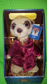 Meerkat Alexandr Toy - the original Alexandr in snazzy dresing gown