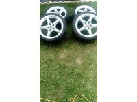 """Vauxhall astra 18"""" alloys with tyres"""
