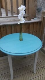 REVAMPED ROUND PAINTED TABLE