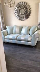 Lovely Striped Three Seater Sofa and Chair