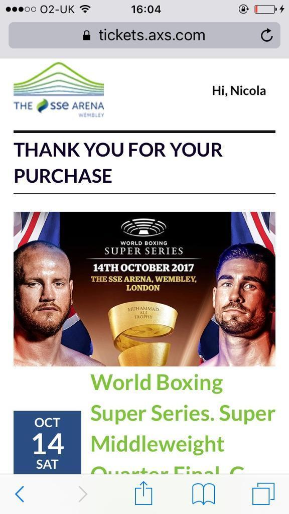 George groves boxing tickets
