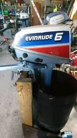 Evinrude 6hp 2 stroke outboard engine