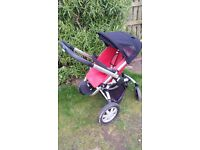 quinny buzz pushchair 4 wheel with raincover