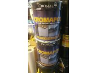 "Cromapol Acrylic Waterproofing Roof Coating Sealer **FREE 3"" BRUSH** Fibre 20kg"