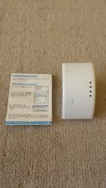 WIRELESS REPEATER, TO EXTEND WIRELESS RANGE, LITTLE USED, INSTRUCTIONS £6