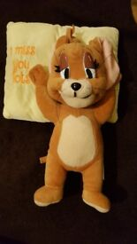 "Jerry Mouse with pillow 13"" tall from Tom and Jerry Warner Brothers soft toy"