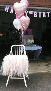 Vintage Party High Chair with Tutu