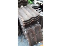 Double Roman, Red Granulated, Concrete, Roof Tiles, Approximately 120, Free To Collector