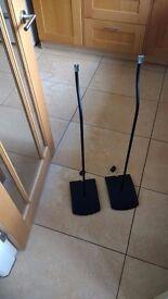 Pair of Bose ufs20 ufs-20 speaker stands - series 2 - black