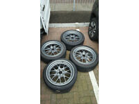 "4x 19"" 5X112 BBS LM R DEEP DISH GUNMETAL ALLOY WHEELS VW AUDI GOLF MK5 A3 A4 A5 A6 A7 A8 sd"
