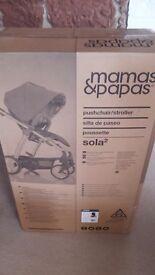 Unused brand new Mamas and Papas Sola 2 Pushchair Bundle inc. Carrycot, Car Seat & Isofix base