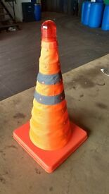 Retractable Safety Cone with Light