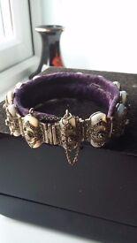 Ladies Antigue Pearl Silver Bracelet