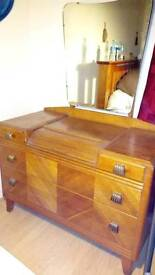 50s Light oak Lebus London dressing table