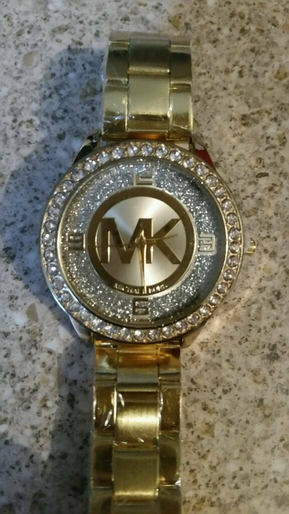 Ladys gold micheal kors watch