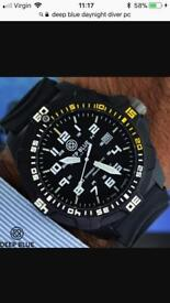 Deep. Blue day night diver PC watch
