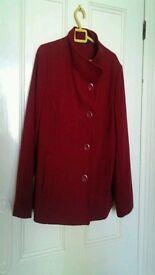 New coat italian wool blend petite size 18