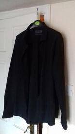 "Mens Burton Long Sleeved Black Shirt - Size XL Slim Fit 17.5-18"""