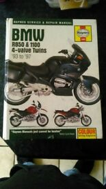 Haynes BMW R850 and 1100 4 valve twin manual