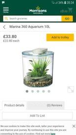 360 fish tank 10letre